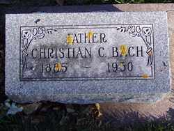 BACH, CHRISTIAN C. - Minnehaha County, South Dakota | CHRISTIAN C. BACH - South Dakota Gravestone Photos