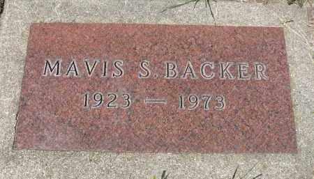 BACKER, MAVIS S. - Minnehaha County, South Dakota | MAVIS S. BACKER - South Dakota Gravestone Photos
