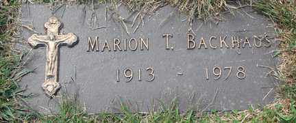 BACKHAUS, MARION T. - Minnehaha County, South Dakota | MARION T. BACKHAUS - South Dakota Gravestone Photos