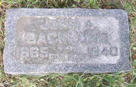 BACKLUND, JOHN A. - Minnehaha County, South Dakota   JOHN A. BACKLUND - South Dakota Gravestone Photos