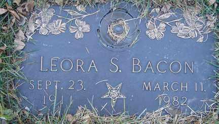 BACON, LEORA S. - Minnehaha County, South Dakota   LEORA S. BACON - South Dakota Gravestone Photos