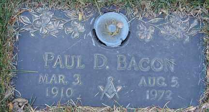 BACON, PAUL D. - Minnehaha County, South Dakota | PAUL D. BACON - South Dakota Gravestone Photos