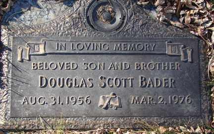 BADER, DOUGLAS SCOTT - Minnehaha County, South Dakota | DOUGLAS SCOTT BADER - South Dakota Gravestone Photos