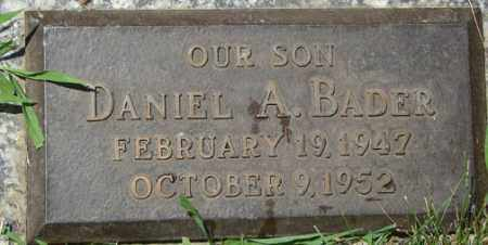 BADER, DANIEL A. - Minnehaha County, South Dakota   DANIEL A. BADER - South Dakota Gravestone Photos