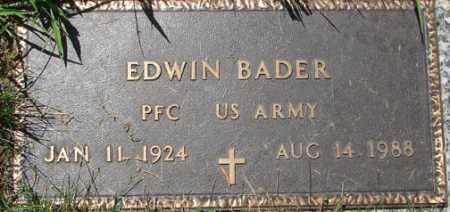 BADER, EDWIN - Minnehaha County, South Dakota | EDWIN BADER - South Dakota Gravestone Photos