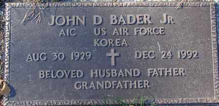 BADER, JOHN D. JR. - Minnehaha County, South Dakota   JOHN D. JR. BADER - South Dakota Gravestone Photos