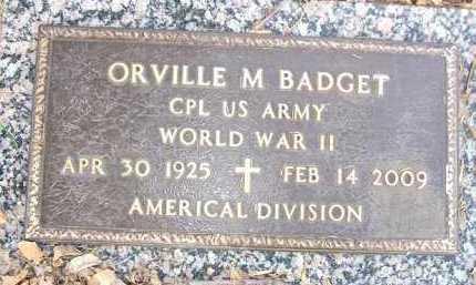 BADGET, ORVILLE M. - Minnehaha County, South Dakota | ORVILLE M. BADGET - South Dakota Gravestone Photos