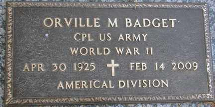 BADGET, ORVILLE M. (WWII) - Minnehaha County, South Dakota | ORVILLE M. (WWII) BADGET - South Dakota Gravestone Photos