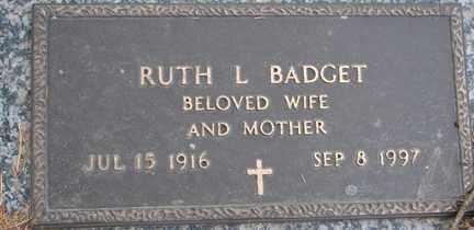 BADGET, RUTH L. - Minnehaha County, South Dakota | RUTH L. BADGET - South Dakota Gravestone Photos