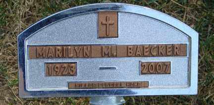 BAECKER, MARILYN M. - Minnehaha County, South Dakota | MARILYN M. BAECKER - South Dakota Gravestone Photos
