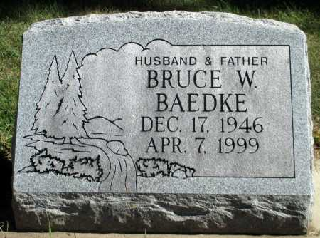 BAEDKE, BRUCE W. - Minnehaha County, South Dakota | BRUCE W. BAEDKE - South Dakota Gravestone Photos