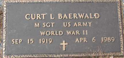 BAERWALD, CURT L. (WWII) - Minnehaha County, South Dakota | CURT L. (WWII) BAERWALD - South Dakota Gravestone Photos