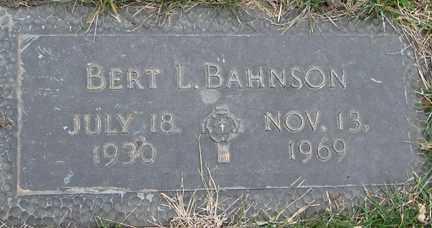 BAHNSON, BERT L. - Minnehaha County, South Dakota | BERT L. BAHNSON - South Dakota Gravestone Photos