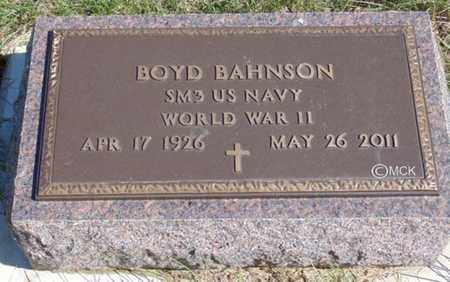BAHNSON, BOYD - Minnehaha County, South Dakota | BOYD BAHNSON - South Dakota Gravestone Photos