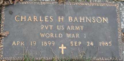BAHNSON, CHARLES H. - Minnehaha County, South Dakota | CHARLES H. BAHNSON - South Dakota Gravestone Photos