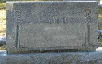 BAHR, FAMILY MARKER - Minnehaha County, South Dakota | FAMILY MARKER BAHR - South Dakota Gravestone Photos