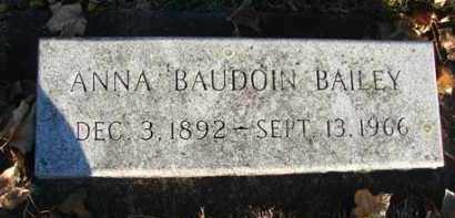 BAILEY, ANNA BAUDOIN - Minnehaha County, South Dakota | ANNA BAUDOIN BAILEY - South Dakota Gravestone Photos