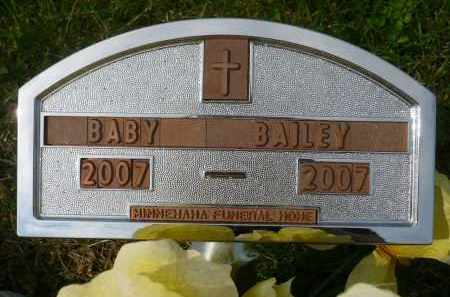 BAILEY, INFANT - Minnehaha County, South Dakota | INFANT BAILEY - South Dakota Gravestone Photos