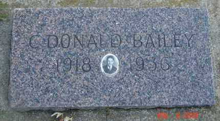 BAILEY, C. DONALD - Minnehaha County, South Dakota | C. DONALD BAILEY - South Dakota Gravestone Photos