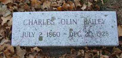 BAILEY, CHARLES OLIN - Minnehaha County, South Dakota | CHARLES OLIN BAILEY - South Dakota Gravestone Photos