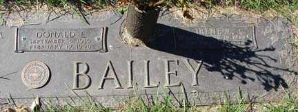 BAILEY, DONALD E. - Minnehaha County, South Dakota | DONALD E. BAILEY - South Dakota Gravestone Photos