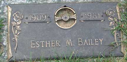 BAILEY, ESTHER M. - Minnehaha County, South Dakota | ESTHER M. BAILEY - South Dakota Gravestone Photos