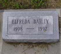 BAILEY, ELFREDA - Minnehaha County, South Dakota | ELFREDA BAILEY - South Dakota Gravestone Photos