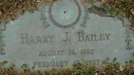 BAILEY, HARRY J. - Minnehaha County, South Dakota | HARRY J. BAILEY - South Dakota Gravestone Photos