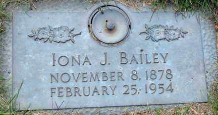 BAILEY, IONA J. - Minnehaha County, South Dakota | IONA J. BAILEY - South Dakota Gravestone Photos