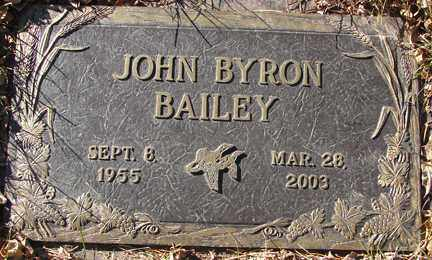 BAILEY, JOHN BYRON - Minnehaha County, South Dakota | JOHN BYRON BAILEY - South Dakota Gravestone Photos