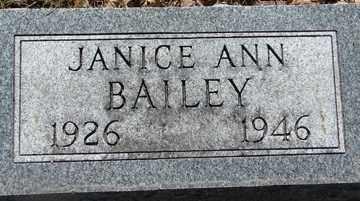 BAILEY, JANICE ANN - Minnehaha County, South Dakota | JANICE ANN BAILEY - South Dakota Gravestone Photos