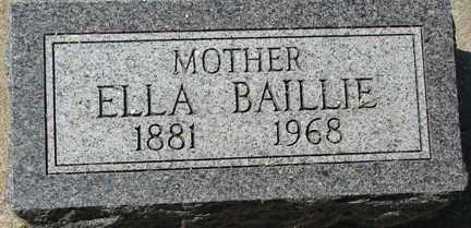 BAILLIE, ELLA - Minnehaha County, South Dakota | ELLA BAILLIE - South Dakota Gravestone Photos