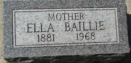 BAILLIE, ELLA - Minnehaha County, South Dakota | ELLA BAILLIE - South Dakota Gravestone Photos