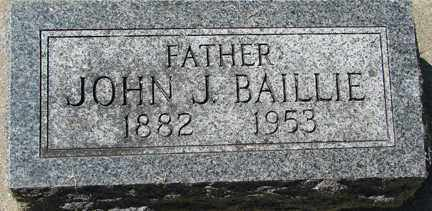 BAILLIE, JOHN J. - Minnehaha County, South Dakota | JOHN J. BAILLIE - South Dakota Gravestone Photos