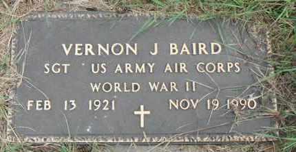 BAIRD, VERNON J. - Minnehaha County, South Dakota   VERNON J. BAIRD - South Dakota Gravestone Photos