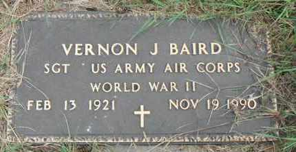 BAIRD, VERNON J. - Minnehaha County, South Dakota | VERNON J. BAIRD - South Dakota Gravestone Photos