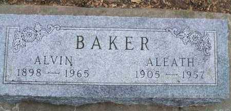 BAKER, ALEATH - Minnehaha County, South Dakota   ALEATH BAKER - South Dakota Gravestone Photos