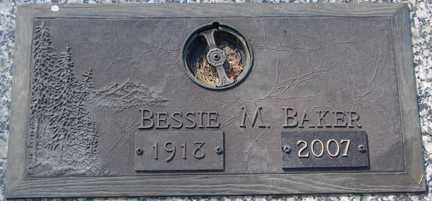 CHRISTENSEN BAKER, BESSIE M. - Minnehaha County, South Dakota | BESSIE M. CHRISTENSEN BAKER - South Dakota Gravestone Photos
