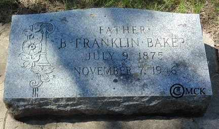 BAKER, BENJAMIN  FRANKLIN - Minnehaha County, South Dakota | BENJAMIN  FRANKLIN BAKER - South Dakota Gravestone Photos