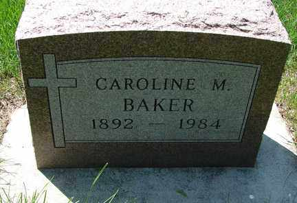 BAKER, CAROLINE M. - Minnehaha County, South Dakota | CAROLINE M. BAKER - South Dakota Gravestone Photos