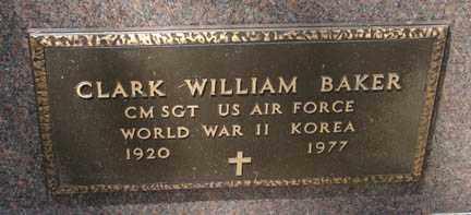 BAKER, CLARK WILLIAM - Minnehaha County, South Dakota   CLARK WILLIAM BAKER - South Dakota Gravestone Photos