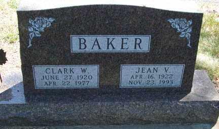BAKER, JEAN V. - Minnehaha County, South Dakota | JEAN V. BAKER - South Dakota Gravestone Photos