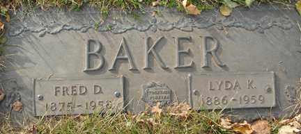 BAKER, FRED D. - Minnehaha County, South Dakota | FRED D. BAKER - South Dakota Gravestone Photos