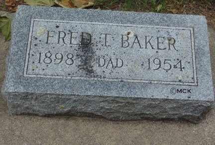 BAKER, FRED T. - Minnehaha County, South Dakota | FRED T. BAKER - South Dakota Gravestone Photos