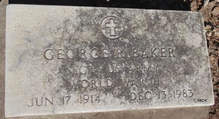 BAKER, GEORGE R. - Minnehaha County, South Dakota | GEORGE R. BAKER - South Dakota Gravestone Photos