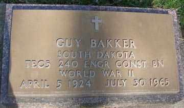 BAKER, GUY - Minnehaha County, South Dakota | GUY BAKER - South Dakota Gravestone Photos
