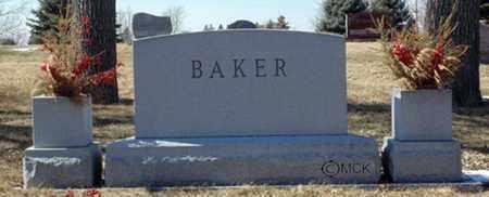 BAKER, HEADSTONE - Minnehaha County, South Dakota | HEADSTONE BAKER - South Dakota Gravestone Photos