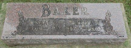 BAKER, ISAAC W. - Minnehaha County, South Dakota | ISAAC W. BAKER - South Dakota Gravestone Photos
