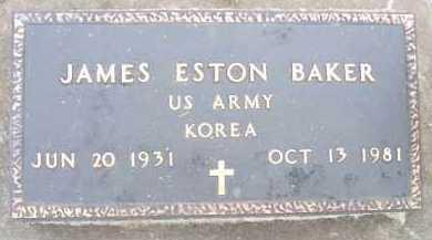 BAKER, JAMES ESTON - Minnehaha County, South Dakota   JAMES ESTON BAKER - South Dakota Gravestone Photos
