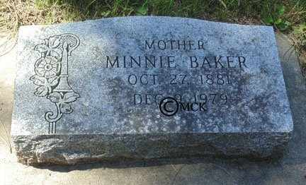 BAKER, MINNIE - Minnehaha County, South Dakota | MINNIE BAKER - South Dakota Gravestone Photos